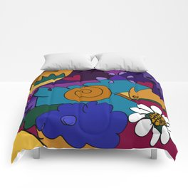 """""""Before the Celebration"""" bold, colorful doodle art Comforters"""