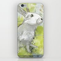 rabbit iPhone & iPod Skins featuring Rabbit by Melissa McGill
