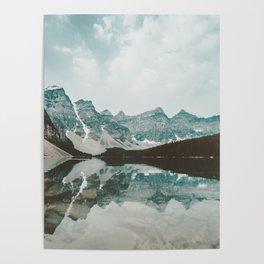 Moraine Lake Mountain Reflection Summer Poster