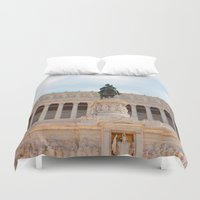 rome Duvet Covers featuring Rome by Anya Kubilus