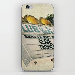 Club Bahia retro sign iPhone Skin