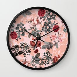 Rose Garden III Wall Clock