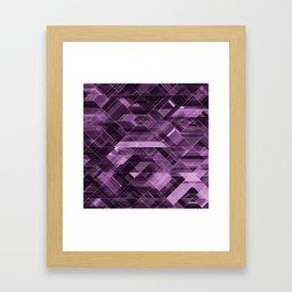 Abstract violet pattern Framed Art Print