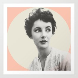 My Elizabeth Taylor Art Print