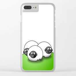 Sheep agriculture hill group flock Clear iPhone Case