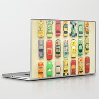 yellow Laptop & iPad Skins featuring Car Park by Cassia Beck