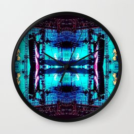 Psychedelic Festival 008 Wall Clock