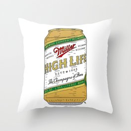 The Champagne of Beers Throw Pillow