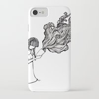 reading iPhone & iPod Cases featuring Reading by Delilah Franco