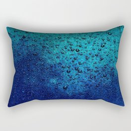 Sea Green Blue Texture Rectangular Pillow