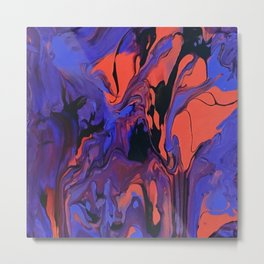 Blue, Teal and Orange Fantasy Metal Print
