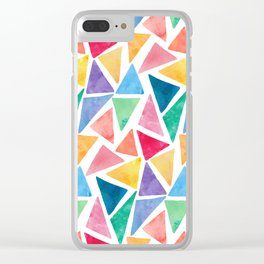 Watercolor Pattern Clear iPhone Case