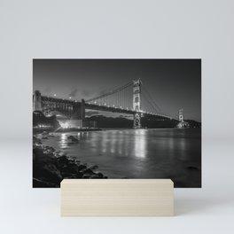 Night Walks at Fort Point, San Francisco Mini Art Print