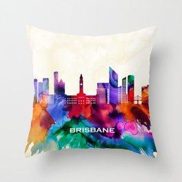 Brisbane Skyline Throw Pillow