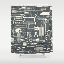 fiendish incisions metal Shower Curtain