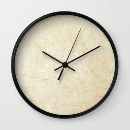 Marble Crema Marfil Classico Wall Clock