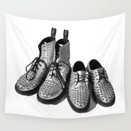 Silver Studded Docs Wall Tapestry