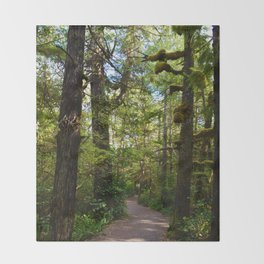 Vegetation growing along the Wild Pacific Trail, Ucluelet BC Throw Blanket