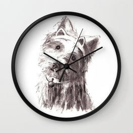 Bon Bon - the cat-like dog Wall Clock