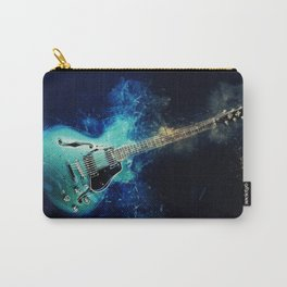 Electric Blue Guitar Carry-All Pouch