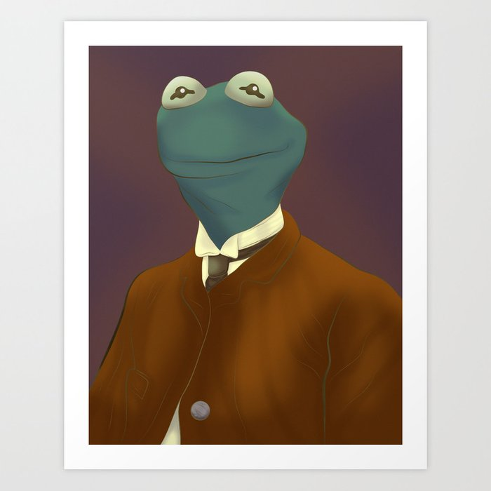 Kermit T. Frog Esquire Art Print by jackcrowder | Society6