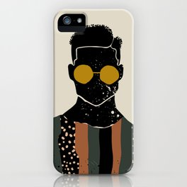 Black Hair No. 7 iPhone Case
