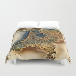 Map of Holland Duvet Cover