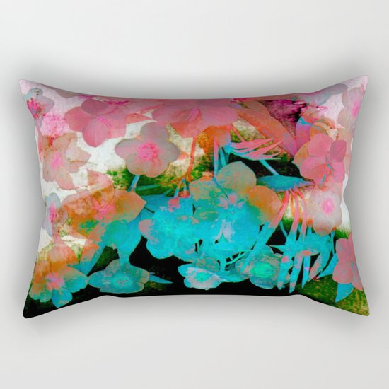 abstract bouquet on watercolors Rectangular Pillow