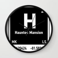 haunted mansion Wall Clocks featuring elements of H (Haunted Mansion) by designoMatt