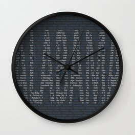 Alabama and All Her Cities Wall Clock
