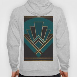 Art Deco New Yesterday In Teal Hoody