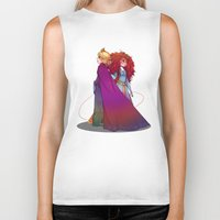 merida Biker Tanks featuring Elsa & Merida  by Kiome-Yasha