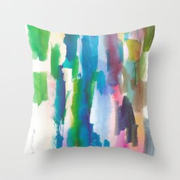 180812 Abstract Watercolour Expressionism 7| Colorful Abstract | Modern Watercolor Art Throw Pillow