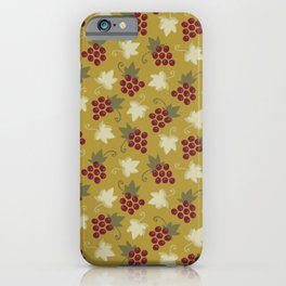 Sweet Grapevine on Old Gold iPhone Case