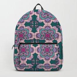 Floral ornamet tile Backpack