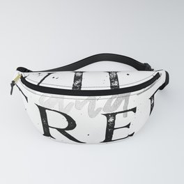 Wild and Free Silver on White Fanny Pack