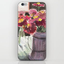 zinnias at sunset iPhone Skin