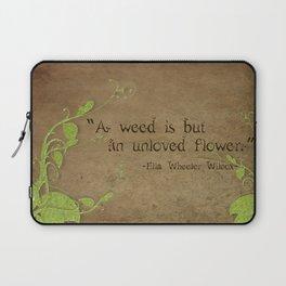 Weeds, Unloved Flowers Laptop Sleeve