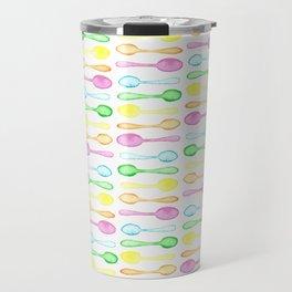 Watercolor Spoons! Travel Mug