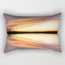 Reflecting Sunset - 7 Rectangular Pillow