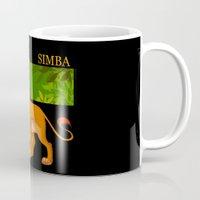 simba Mugs featuring Simba, the lion king by lulu555