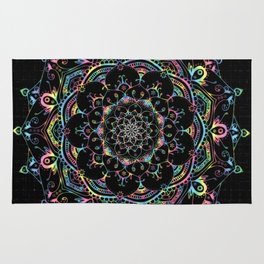 Transcendental Dream Coloured Mandala Design Rug