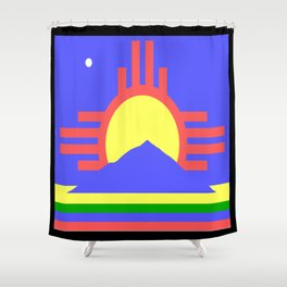 flag of Roswell Shower Curtain