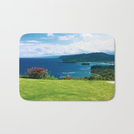 Color photo of Firefly view in Ocho Rios, Jamaica by Larry Simpson Bath Mat