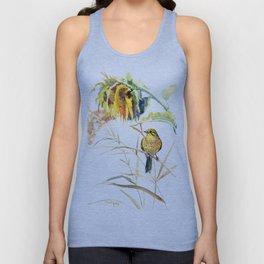 Yellow Bird and Sunflowers, Yellowhammer Unisex Tank Top
