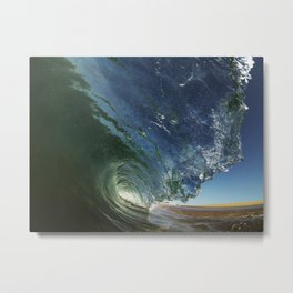 Shorebreak Barrel  3/16/14 Metal Print