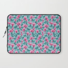 Pink & Teal Lovely Floral Laptop Sleeve