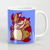 rocket raccoon Mugs featuring Rabid Raccoon by Artistic Dyslexia