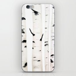 birch  watercolor iPhone Skin