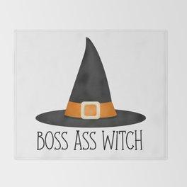 Boss Ass Witch Throw Blanket